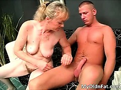 Nasty fat blonde MILF slut with big tits part3
