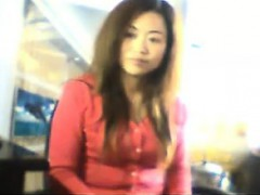 Chinese Girl Flashes Her Tits