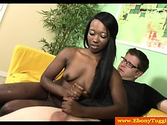 petite-ebony-black-slut-tugs-white-cock