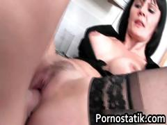 Black Haired Cougar In Black Stockings Part6