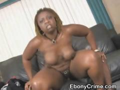 Dirty Black Ghetto Slut Getting Pounded Very Roughly