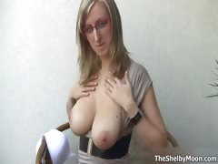 Busty Blonde Whore Gets Horny Showing Part4