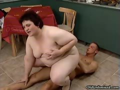 Nasty Fat Woman Rides An Hard Cock Part2