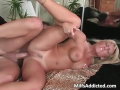 Bad blonde MILF with big tits drives part2