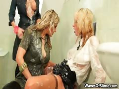 Three hot Euro babes love fucking part1