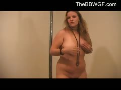 Purple Corset Chubby BBW Ex Girlfriend pole dancing 