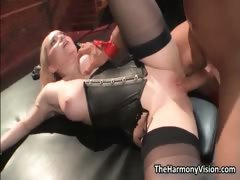 Dirty blonde slut gets her pussy pounded part3