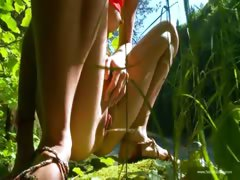 petite-russian-teenie-peeing-in-a-forest