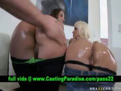 holly-halston-two-gorgeous-blonde-oiled-asses