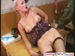 Russian slut get fucked in the ass