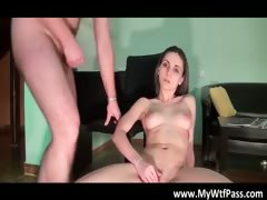 Sexy and hot brunette babe fucks her part2