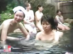 Hot Spring Public Bathing Girls