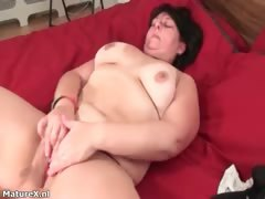 Busty fat brunette woman really enjoys part2
