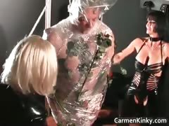 Older Guy Is Sex Slave To Two Dirty Part4