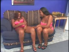 Lesbian Scene With Bbw Ebonies Licking Twat