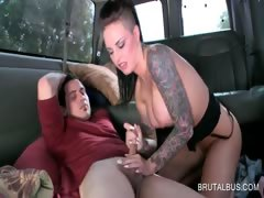 busty-brunette-tramp-gets-cunnilingus-in-the-bus