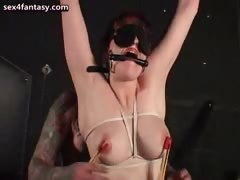Slut Gets Tied Up And Gets Whipped
